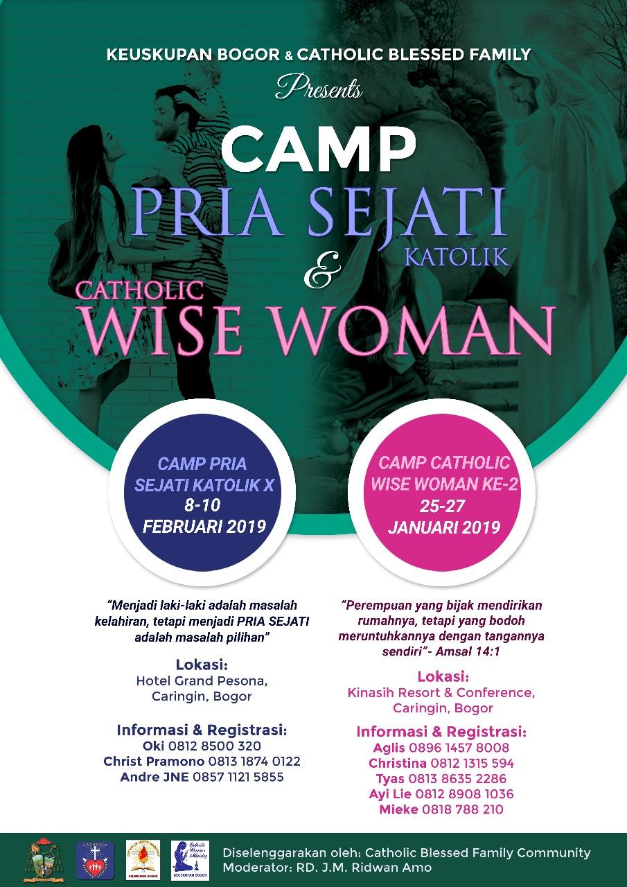 Camp Pria Sejati dan Wise Woman mengadakan pertemuan di bulan Januari dan Februari 2019